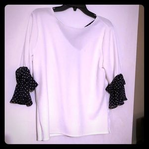 NY and Co white and black top